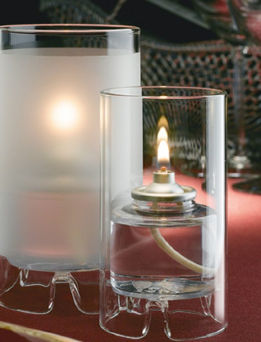 Mini Cylinder Glass Table