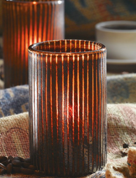 Mocha Candle Glass Container